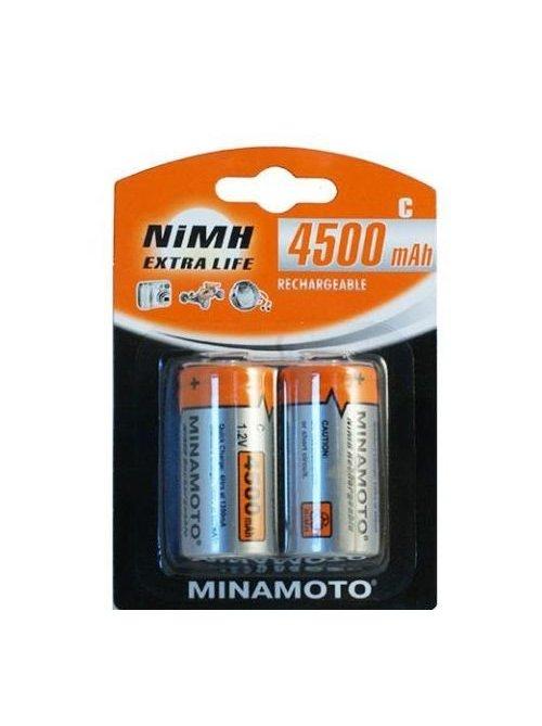 Аккумулятор C - MINAMOTO R14 4500 mAh NiMH (2 штуки)