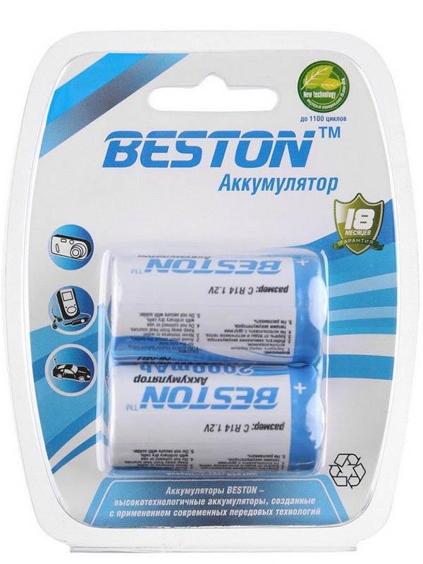 Аккумулятор C - BESTON R14 2000 mAh NiMH (2 штуки)
