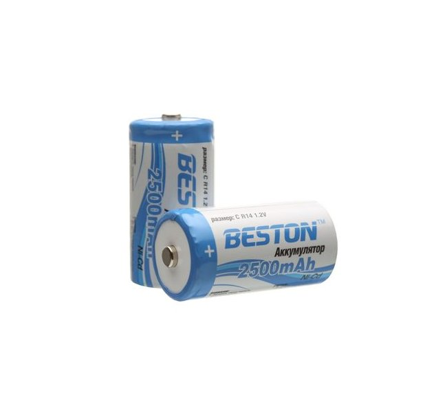 Аккумулятор C - BESTON R14 2500 mAh NiCd (2 штуки)