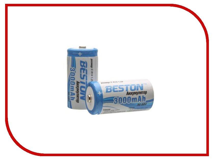 Аккумулятор C - BESTON R14 3000 mAh NiMH (2 штуки)<br>