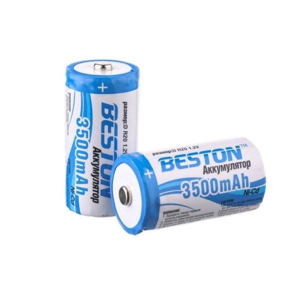 Аккумулятор D - BESTON R20 3500 mAh NiCd (2 штуки)