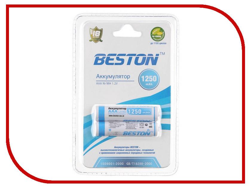 Аккумулятор AAA - BESTON 1250 mAh NiMH (2 штуки) аккумулятор aaa fujitsu hr 4uthceu 2b 900 mah 2 штуки 84438
