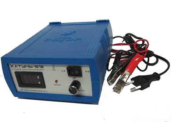 Зарядное устройство для автомобильных аккумуляторов Катунь-512<br>