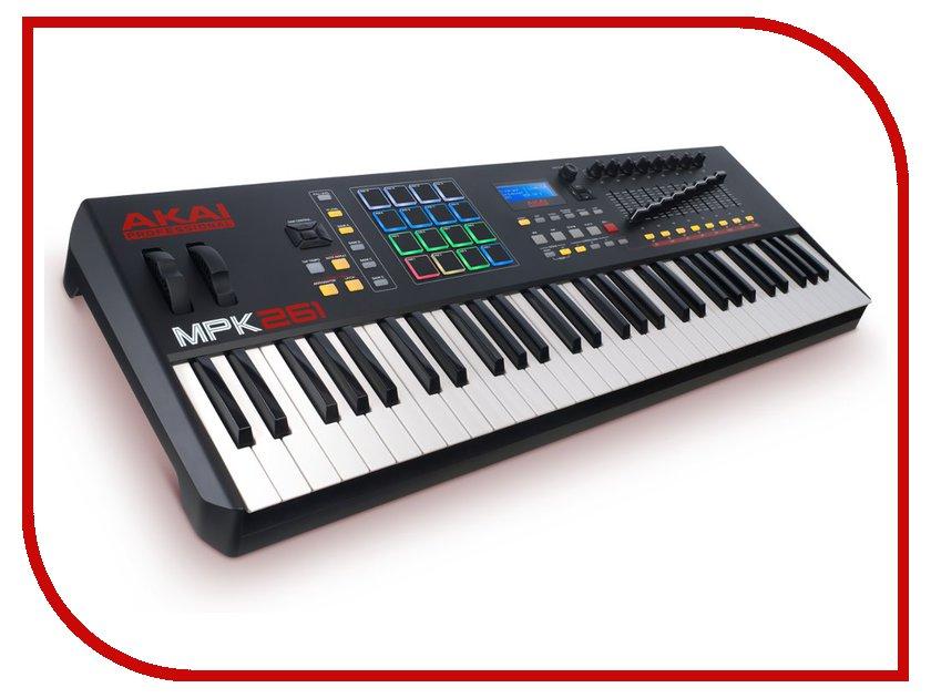 MIDI-клавиатура AKAI pro MPK261 USB midi клавиатура akai pro mpk261 usb