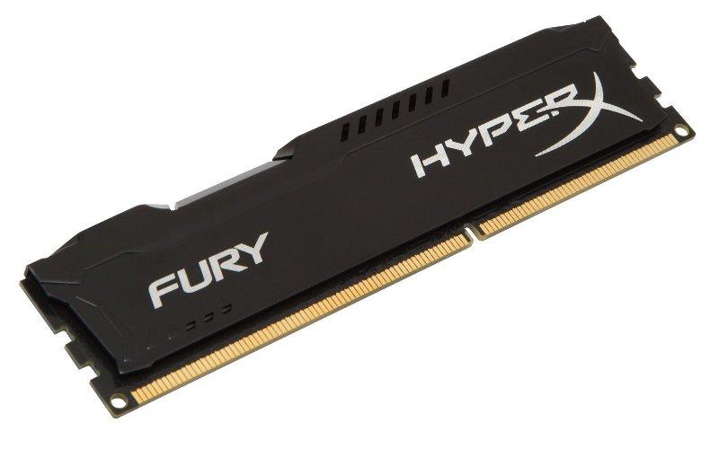 Модуль памяти Kingston HyperX Fury Black DDR3 DIMM 1600MHz PC3-12800 CL10 - 8Gb HX316C10FB/8 модуль памяти kingston pc3 12800 so dimm ddr3 1600mhz 8gb kvr16s11 8