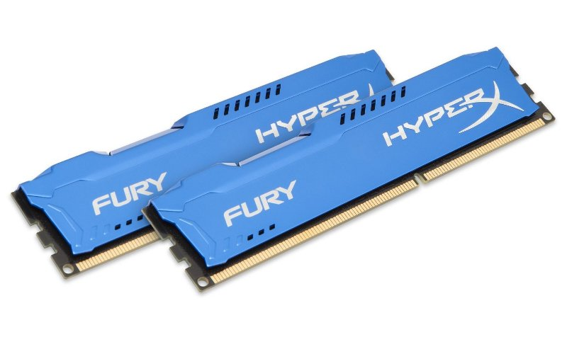 все цены на Модуль памяти Kingston HyperX Fury Blue DDR3 DIMM 1600MHz PC3-12800 CL10 - 8Gb KIT (2x4Gb) HX316C10FK2/8 онлайн