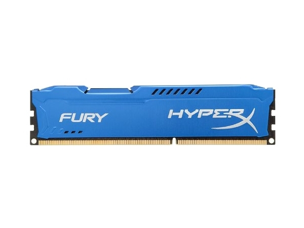Модуль памяти Kingston HyperX Fury Blue DDR3 DIMM 1866MHz PC3-15000 CL10 - 4Gb HX318C10F/4 цена и фото