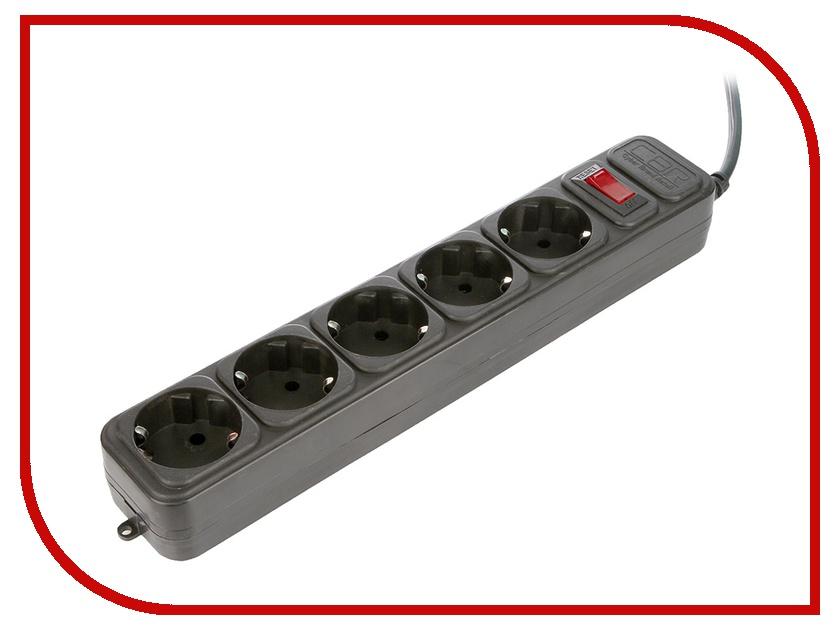 Сетевой фильтр CBR 5 Sockets 3m Black CSF 2400-3