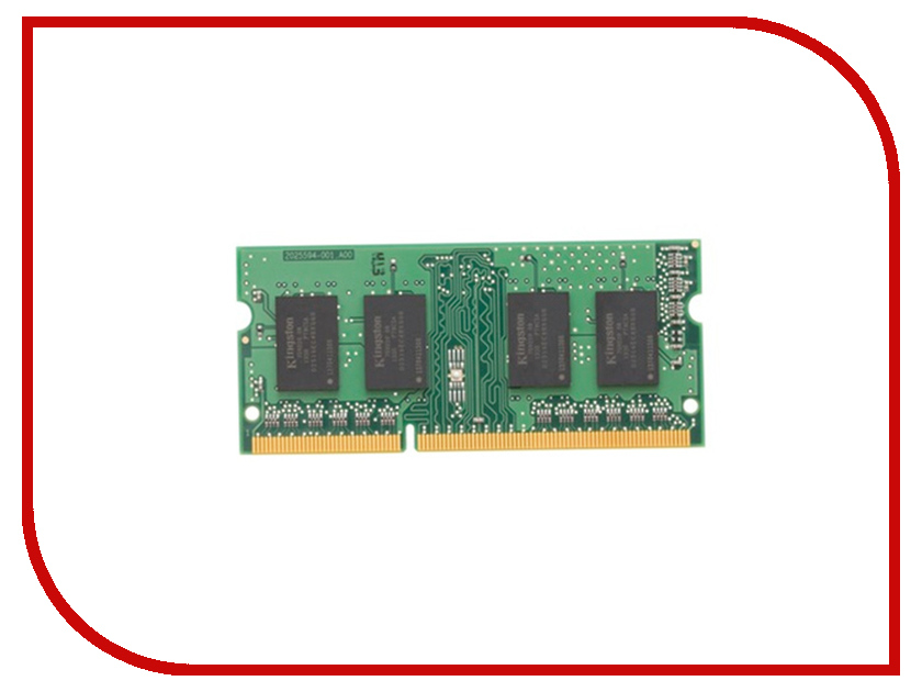 Модуль памяти Kingston DDR3 SO-DIMM 1600MHz PC3-12800 CL11 - 2Gb KVR16S11S6/2 модуль памяти hp 16gb 2rx4 pc3 12800r 11 kit 672631 b21