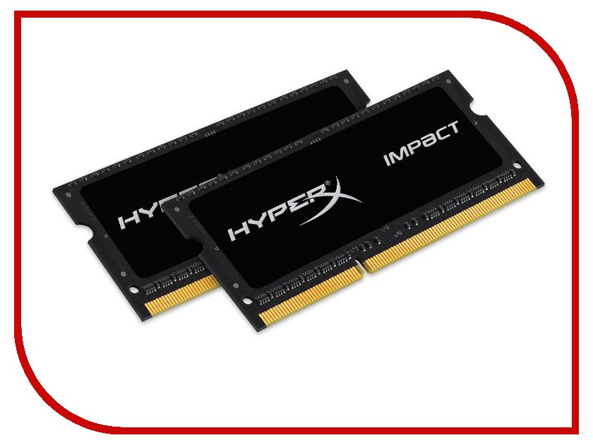 Модуль памяти Kingston HyperX Impact DDR3L SO-DIMM 1600MHz PC3-12800 CL9 - 8Gb KIT (2x4Gb) HX316LS9IBK2/8 лампочки эра лампа светодиодная эра led smdb35 7w 842 e27 clear