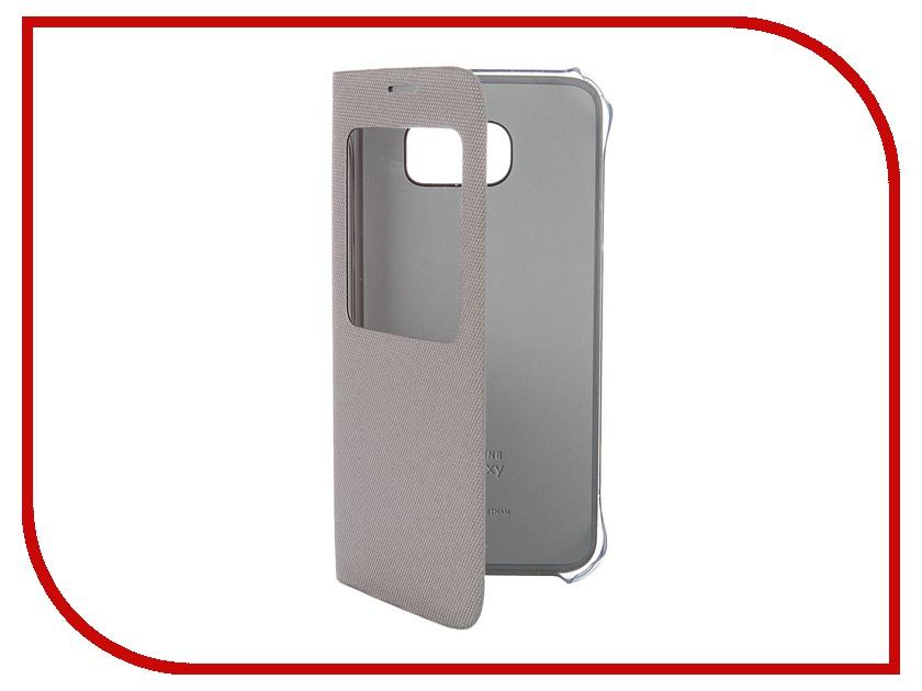 Аксессуар Чехол Samsung SM-G920 Galaxy S6 S View Fabric Silver EF-CG920BSEGRU<br>