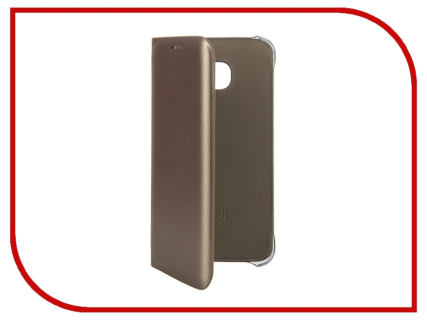 Аксессуар Чехол Samsung SM-G925 Galaxy S6 Edge Flip Wallet PU Gold EF-WG925PFEGRU<br>