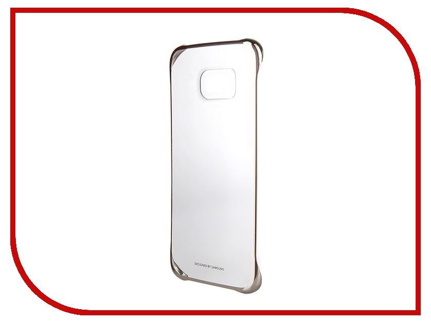 ��������� �����-�������� Samsung SM-G925 Galaxy S6 Edge Clear Cover Gold EF-QG925BFEGRU