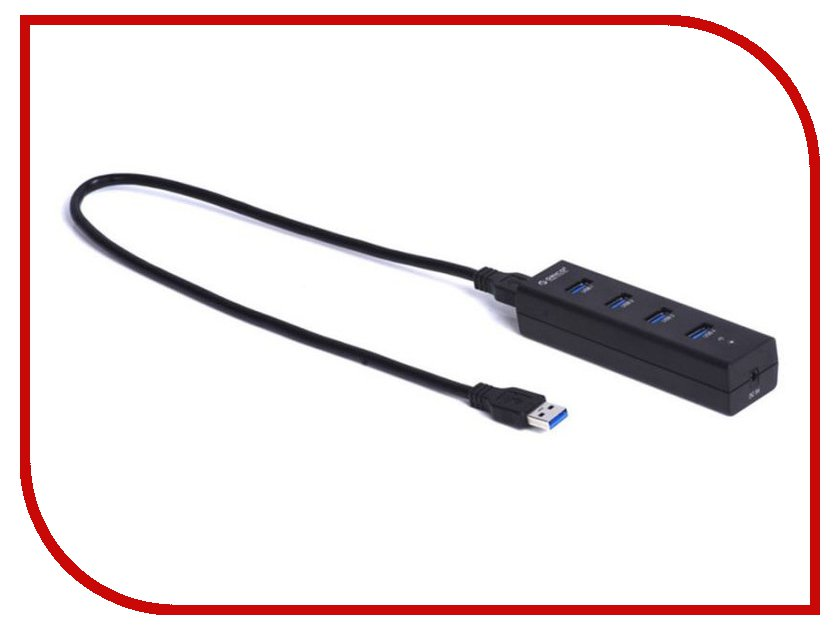 Хаб USB Orico H4013-U3 USB 4-Ports Black