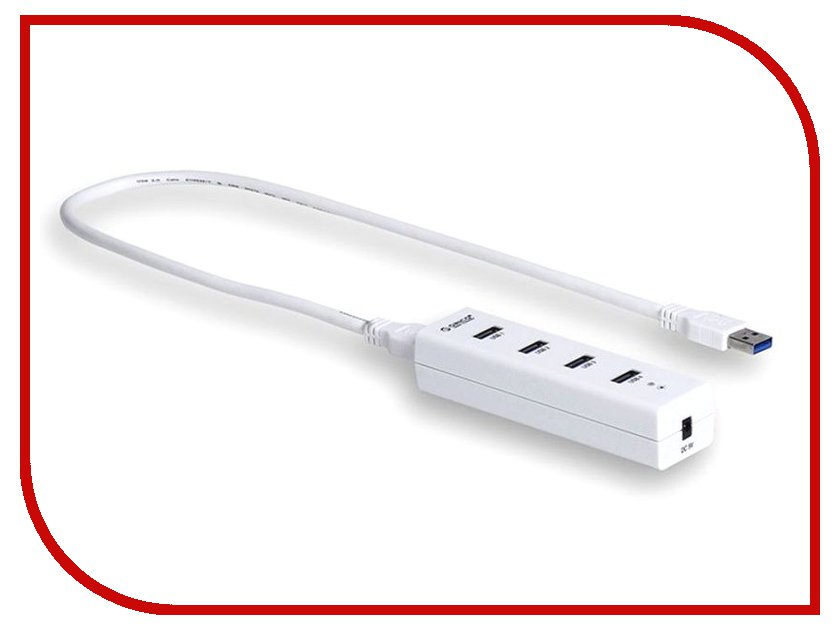 Хаб USB Orico H4013-U3 USB 4-ports White зарядное устройство orico uch 2u1q usb 3 ports black