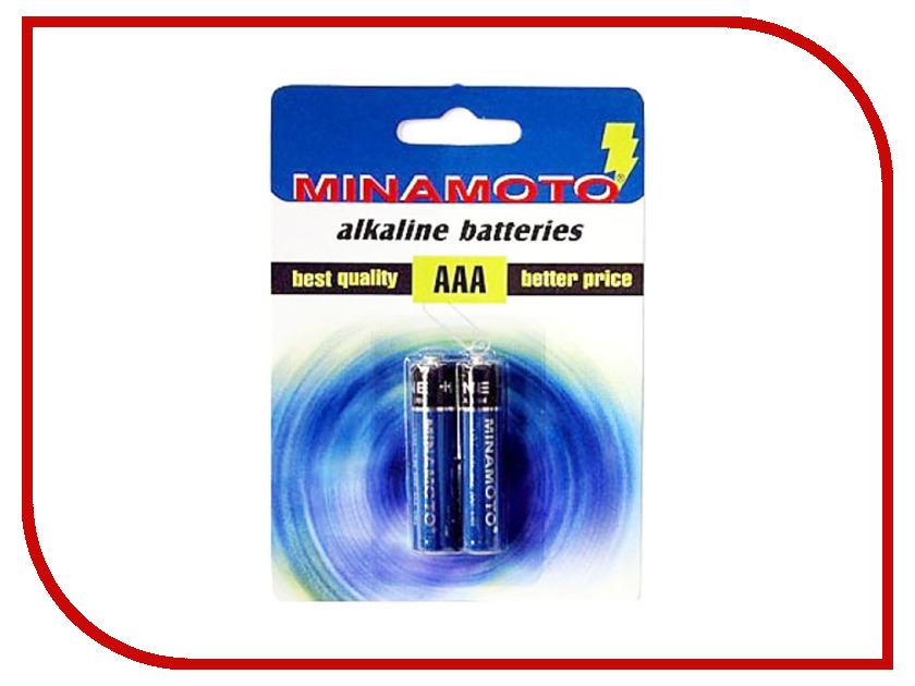Батарейка AAA - MINAMOTO Alkaline 1.5V LR03 SR2 (2 штуки)<br>