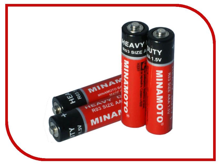 Батарейка AAA - MINAMOTO HEAVY DUTY 1.5V R03 SR4 (4 штуки)