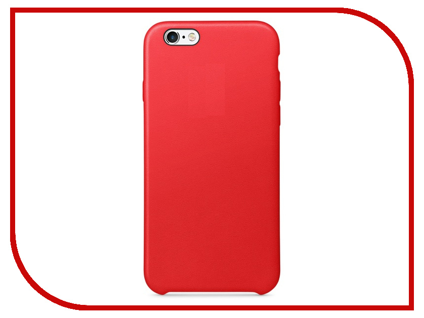 Аксессуар Чехол APPLE iPhone 6S Leather Case Red MKXX2ZM/A<br>