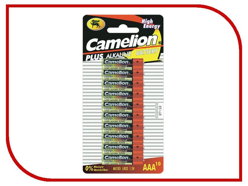 Батарейка AAA - Camelion Alkaline Plus LR03 LR03-BP10 (10 штук) camelion lr6 pbh12 plus батарейка 1 5в 12 шт