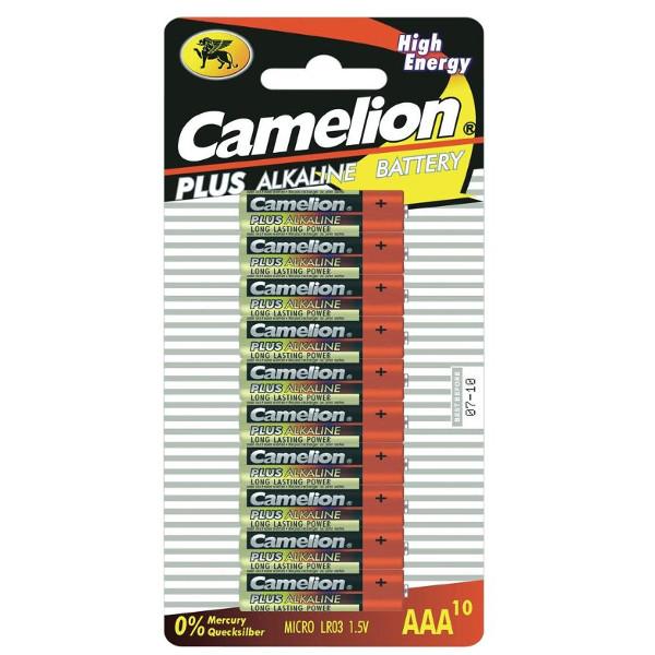 Батарейка AAA - Camelion Alkaline Plus LR03 LR03-BP10 (10 штук)