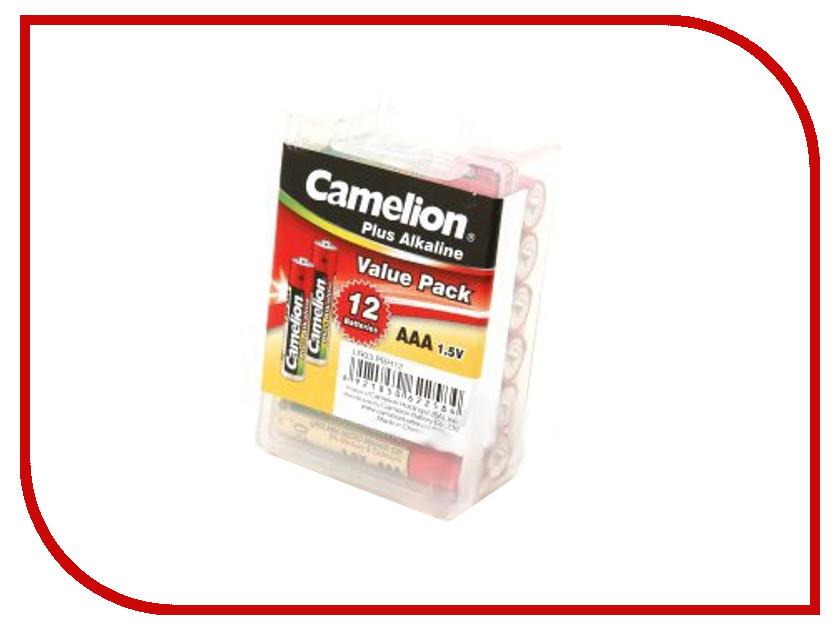 Батарейка AAA - Camelion Alkaline Plus LR03 LR03-PBH12 (12 штук)<br>