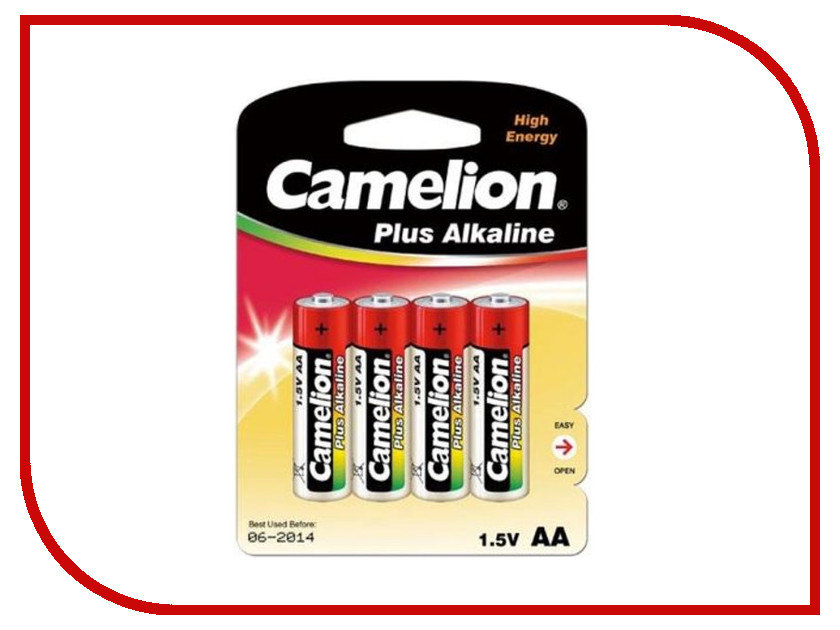 Батарейка AA - Camelion Alkaline Plus LR6-BP4 (4 штуки) pkcell lr6 2100mah 1 5v alkaline aa battery orange 4pcs