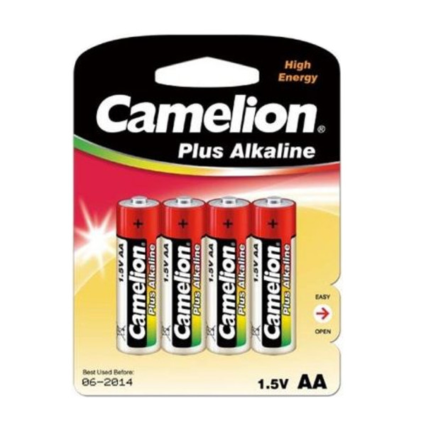 Батарейка AA - Camelion Alkaline Plus LR6-BP4 (4 штуки)