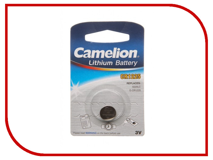 Батарейка CR1225 - Camelion CR1225-BP1 (1 штука) cr1220 camelion cr1220 bp1 1 штука