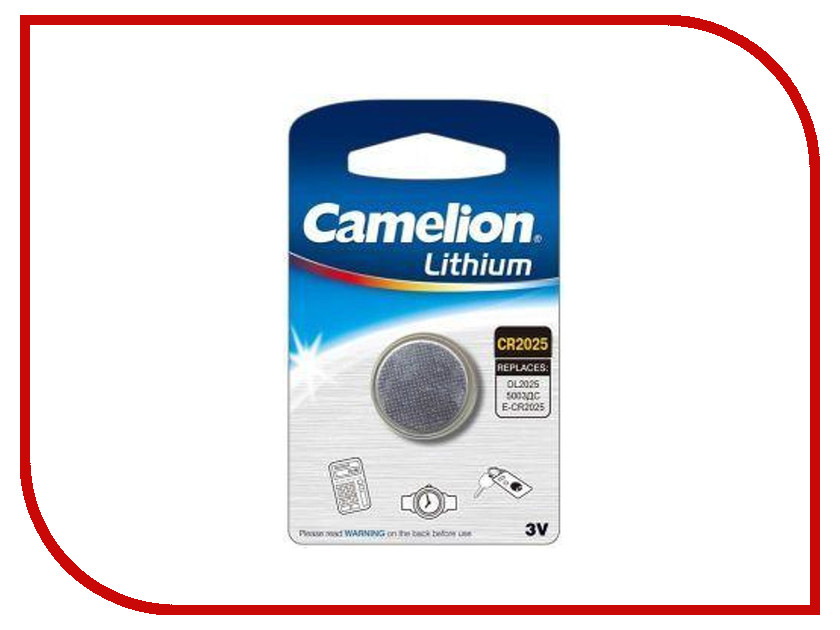 Батарейка CR2025 - Camelion CR2025-BP1 (1 штука)<br>