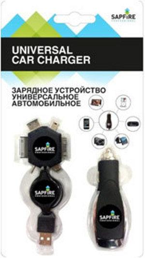 Зарядное устройство Sapfire SCH-0433 автомобильное, универсальное<br>