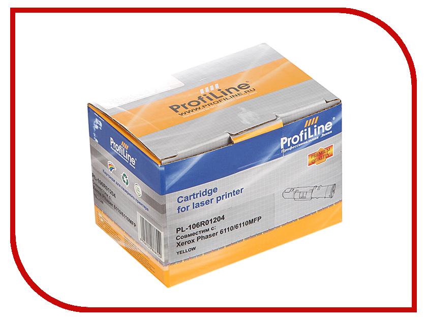 Картридж ProfiLine PL-106R01204 для Rank Xerox Phaser 6110/6110MFP Yellow
