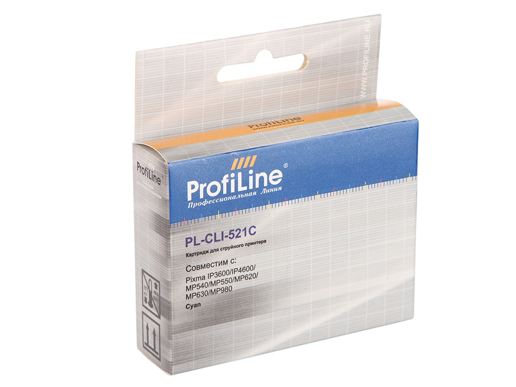 Картридж ProfiLine PL-CLI-521C для Canon Pixma IP3600/IP4600/MP540/MP550/MP620/MP630/MP980 с чипом