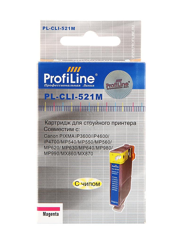 Картридж ProfiLine PL-CLI-521M для Canon Pixma IP3600/IP4600/MP540/MP550/MP620/MP630/MP980 с чипом