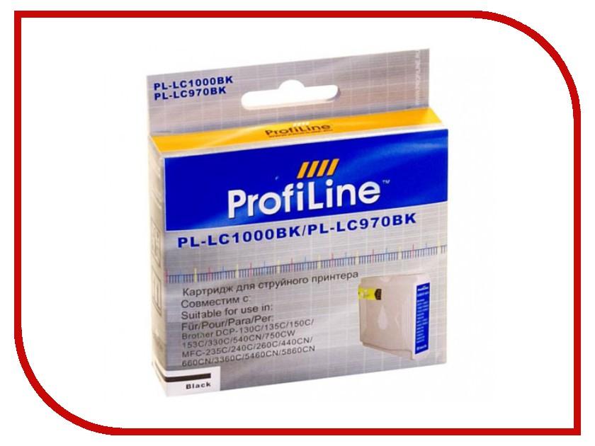 Картридж ProfiLine PL-LC1000BK для Brother LC1000BK/LC970BK DCP-130C/135C/150C/235C/330C/350C/440CN/750CW/MFC-240C/260C/660CN/665CW/885CW/360C/5460CN/5860CW Black