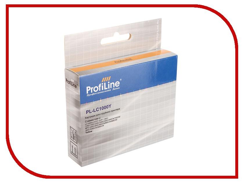 Картридж ProfiLine PL-LC1000Y для Brother LC1000Y/LC970Y DCP-130C/135C/150C/235C/330C/350C/440CN/750CW/MFC-240C/260C/660CN/665CW/885CW/360C/5460CN/5860CW Yellow<br>