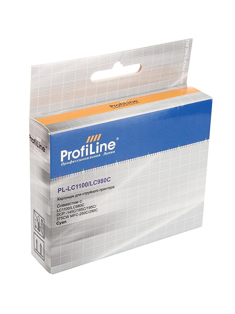 Аксессуар ProfiLine PL-LC1100/LC980C для Brother LC1100/LC980C DCP-145C/165C/195C/375CW MFC-250C/290C Cyan