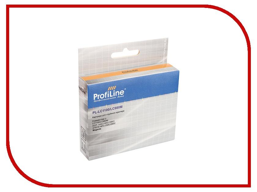 Картридж ProfiLine PL-LC1100/LC980M для Brother LC1100/LC980M DCP-145C/165C/195C/375CW MFC-250C/290C Magenta