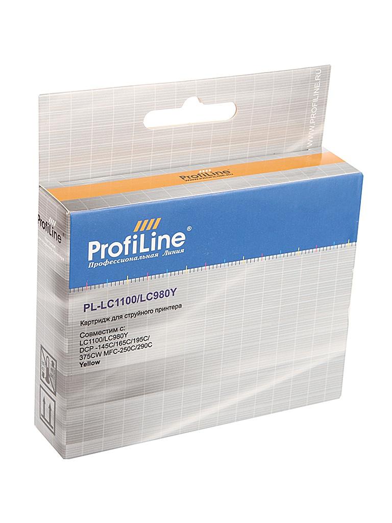 Аксессуар ProfiLine PL-LC1100/LC980Y для Brother LC1100/LC980Y DCP-145C/165C/195C/375CW MFC-250C/290C Yellow