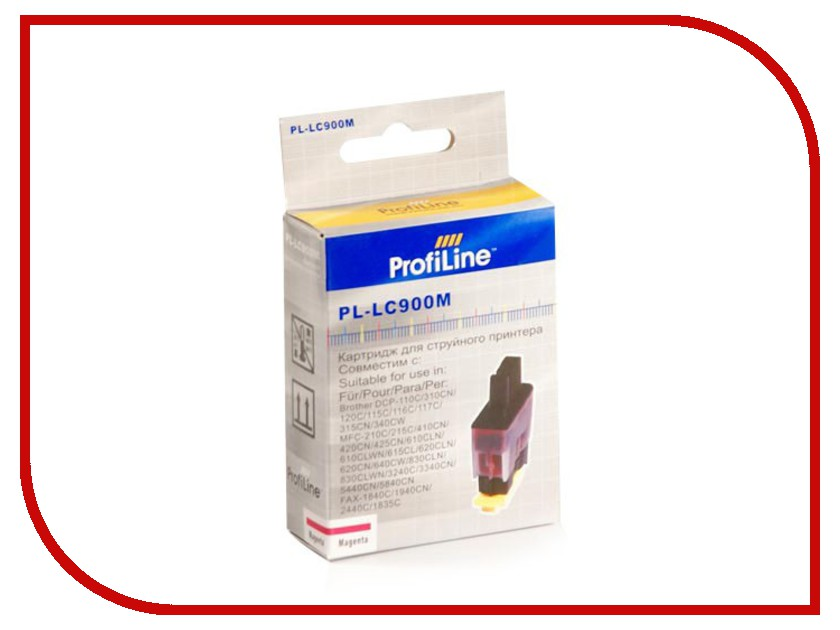 Картридж ProfiLine PL-LC900M для Brother LC900M DCP110C/DCP-115C/DCP-120C/115c/120c820cw/640cw Magenta