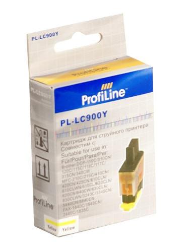 Аксессуар ProfiLine PL-LC900Y для Brother LC900Y DCP110C/DCP-115C/DCP-120C/115c/120c820cw/640cw Yellow