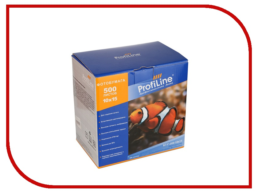 Фотобумага ProfiLine БГ/Г-200-10х15-500 200g/m2 глянцевая двухсторонняя 500 листов