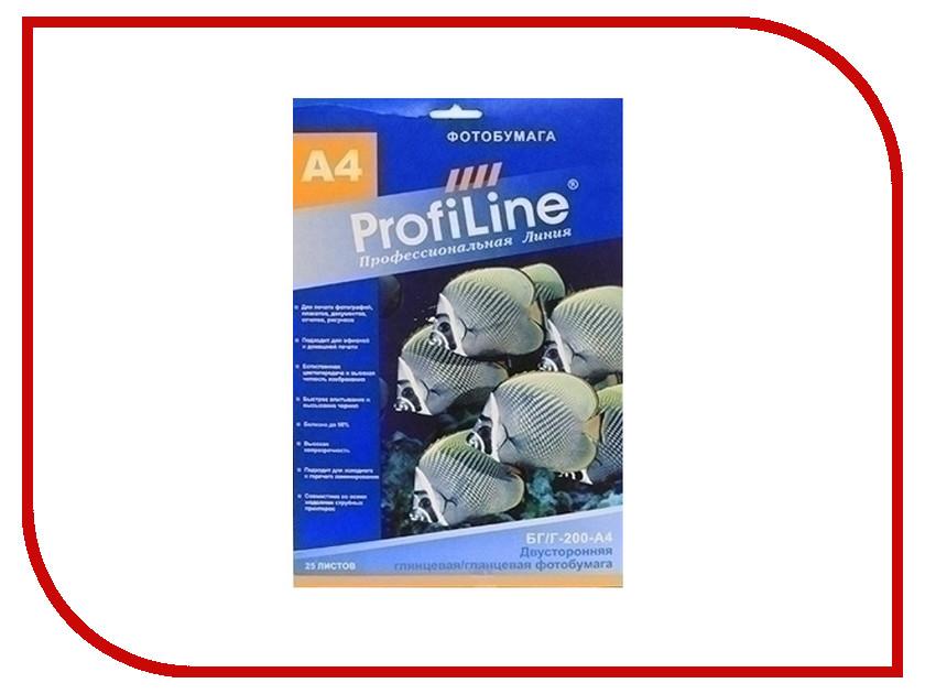���������� ProfiLine ��/�-200-�4-25 200g/m2 A4 ��������� ������������� 25 ������