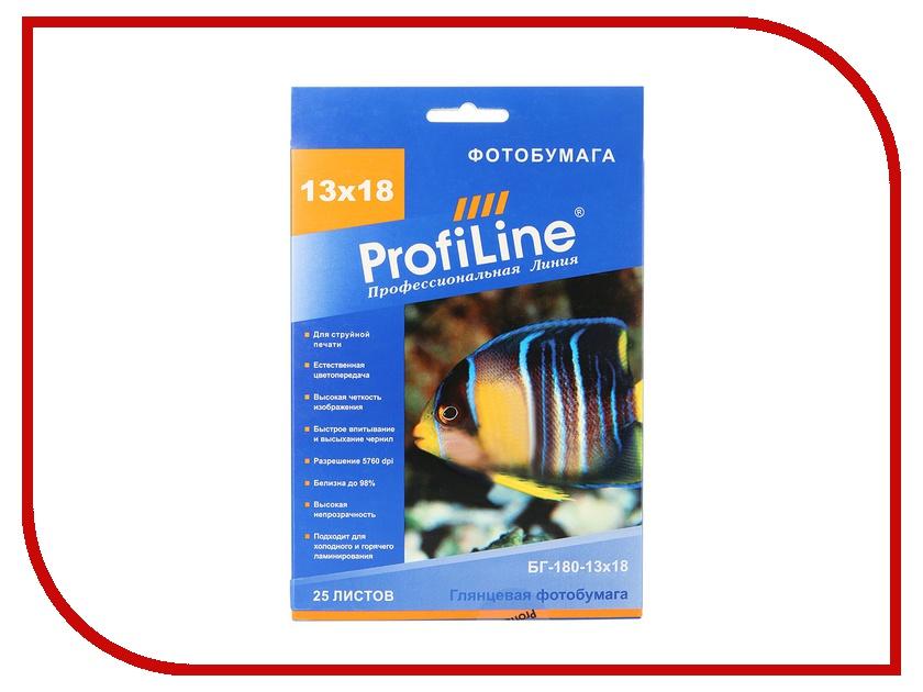 Фотобумага ProfiLine БГ-180-13х18-25 180g/m2 глянцевая 25 листов<br>