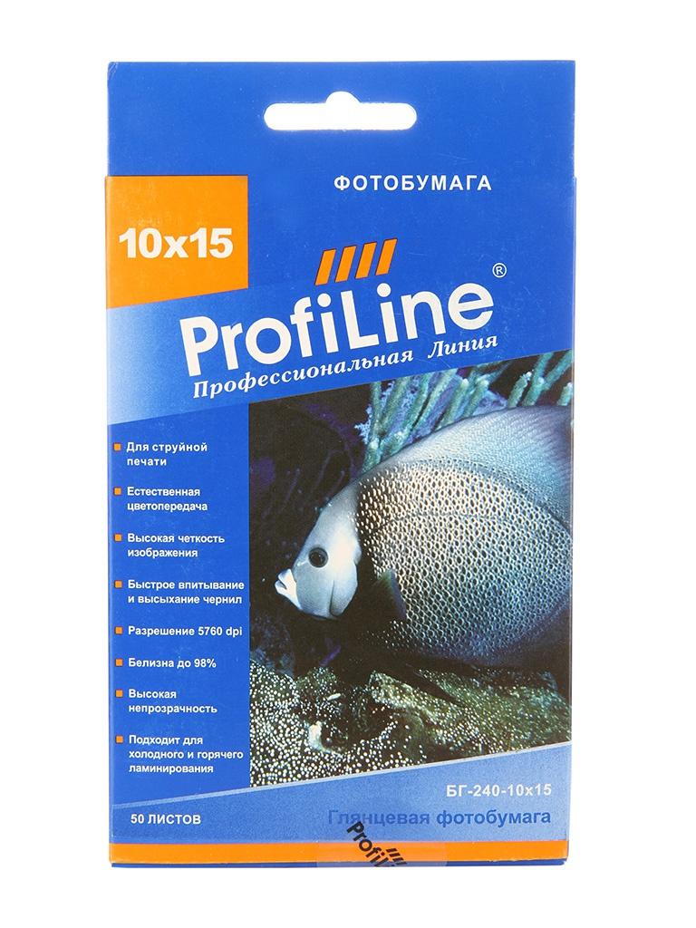 Фотобумага ProfiLine БГ-240-10x15-50 240g/m2 глянцевая 50 листов