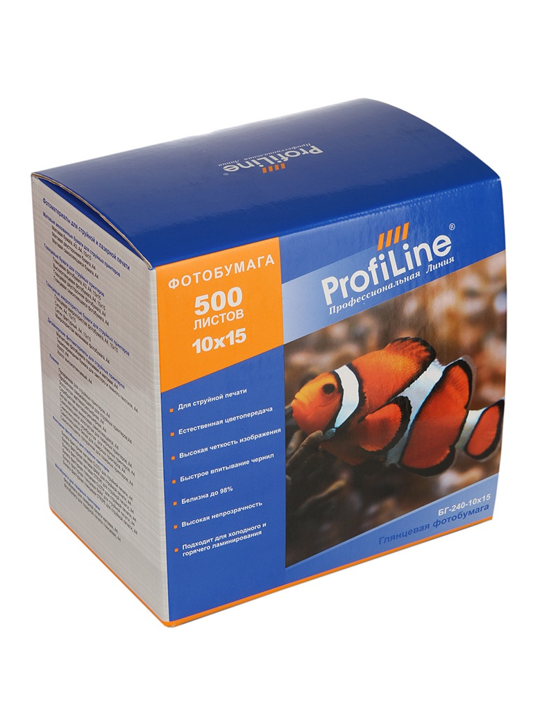 Фотобумага ProfiLine БГ-240-10x15-500 240g/m2 глянцевая 500 листов
