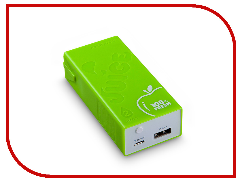 Аккумулятор MOMAX iPower Juice External 4400mAh Green<br>