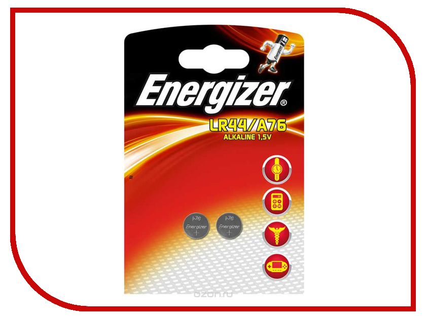 Батарейка LR44/A76 - Energizer Alkaline (2 штуки) kitcpm04910cteveen91 value kit colgate palmolive dishwashing liquid cpm04910ct and energizer industrial alkaline batteries eveen91