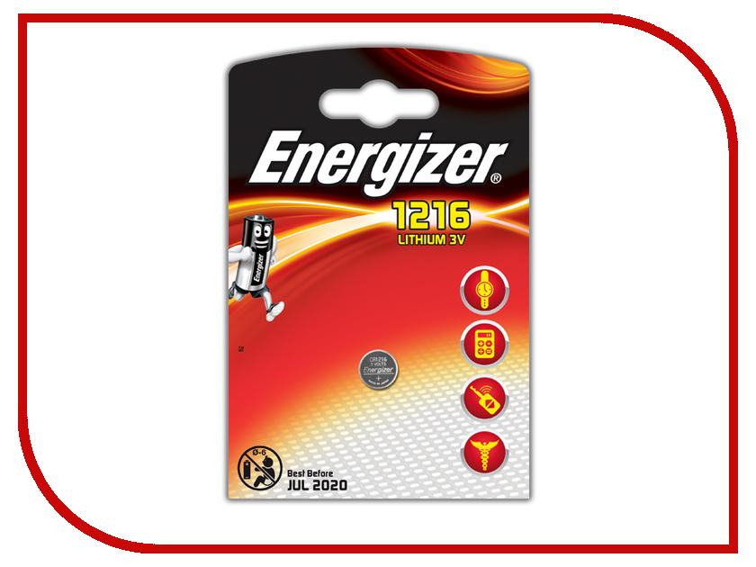 Батарейка CR1216 - Energizer Lithium 3V (1 штука)<br>