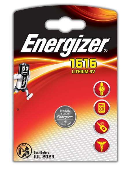 Батарейка CR1616 - Energizer Lithium 3V (1 штука) E300843901 / 21427