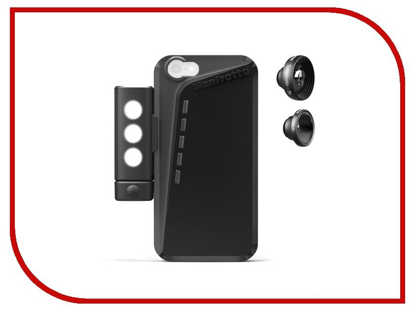 Аксессуар Чехол Manfrotto MKLOKLYP6 Black Case + 2 Lenses + LED для APPLE iPhone 6<br>